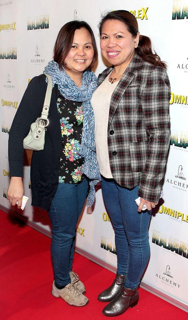 Samantha  Baunta and Jennith O Hanlon at the Irish premiere screening of Kajaki at Omniplex in Rathmines Dublin.Picture:Brian McEvoy.
