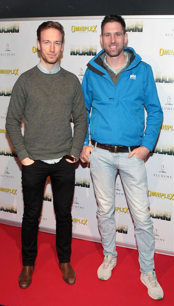 Stephen Heary and Paul Harvey   at the Irish premiere screening of Kajaki at Omniplex in Rathmines Dublin.Picture:Brian McEvoy