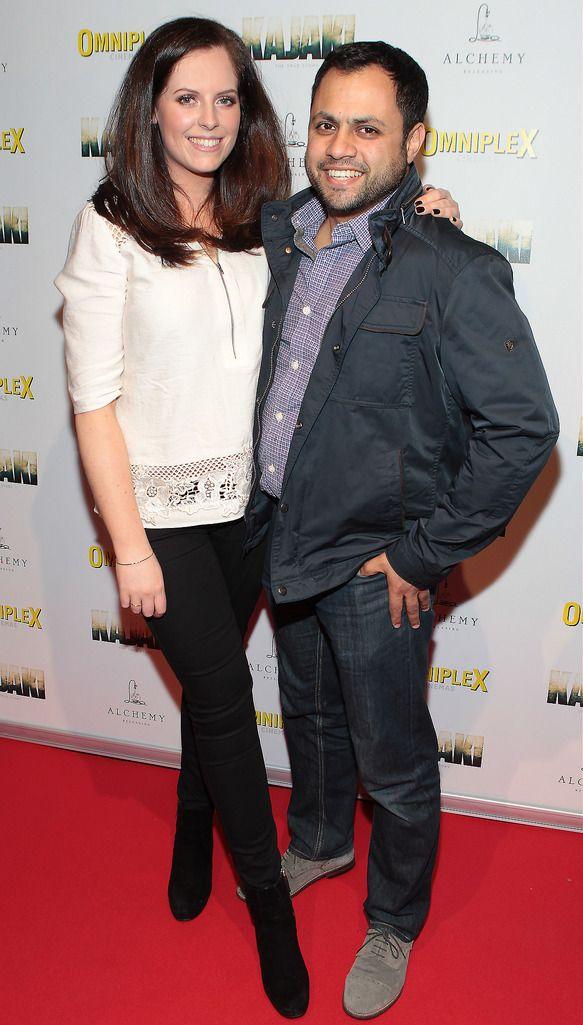 Emma Farrell and Krishna Naidoo   at the Irish premiere screening of Kajaki at Omniplex in Rathmines Dublin.Picture:Brian McEvoy