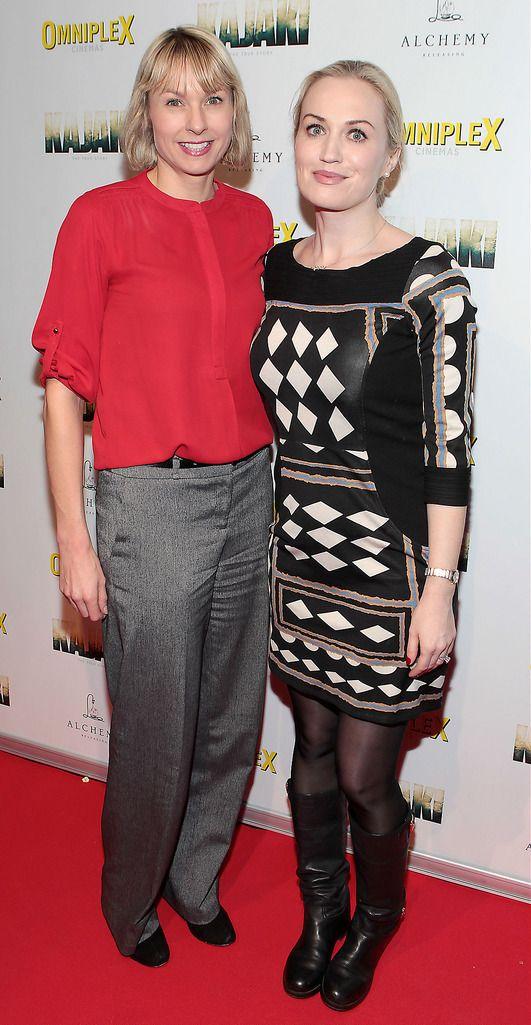 Sarah Kelly and Emma Cashman   at the Irish premiere screening of Kajaki at Omniplex in Rathmines Dublin.Picture:Brian McEvoy.