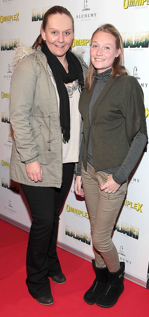 Fiona Duffy and Claire Duffy at the Irish premiere screening of Kajaki at Omniplex in Rathmines Dublin.Picture:Brian McEvoy.