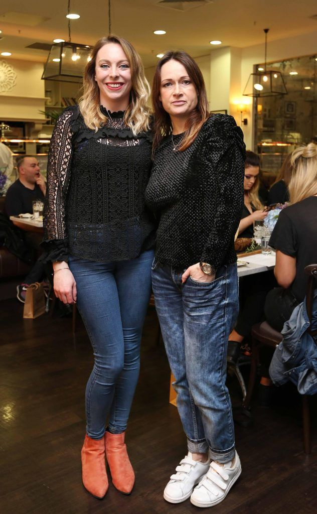 Pictured at the Kiehls and Arnotts supper launch event of Midnight Recovery Botanical Cleansing Oil held at Clodagh's Kitchen were (LtoR) Sarah McGinn and Danielle Murphy. The highly anticipated launch of Midnight Recovery Botanical Cleansing Oil takes place from March 19th. Photo: Sasko Lazarov/Photocall Ireland