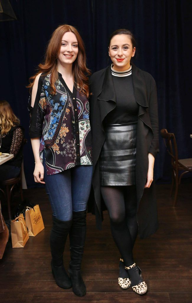 Pictured at the Kiehls and Arnotts supper launch event of Midnight Recovery Botanical Cleansing Oil held at Clodagh's Kitchen were (LtoR) Nicole De Vere and LLorna McGinn.  The highly anticipated launch of Midnight Recovery Botanical Cleansing Oil takes place from March 19th. Photo: Sasko Lazarov/Photocall Ireland