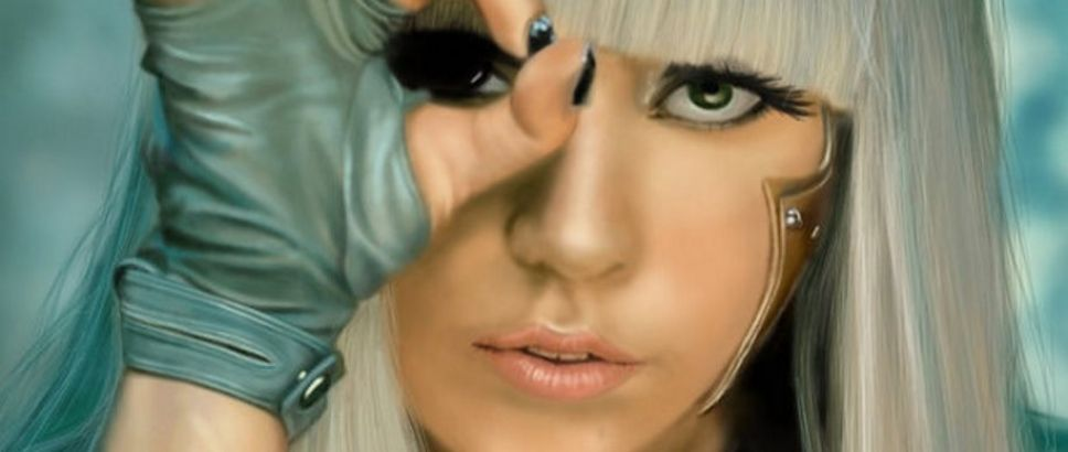 lady gaga makeup poker face