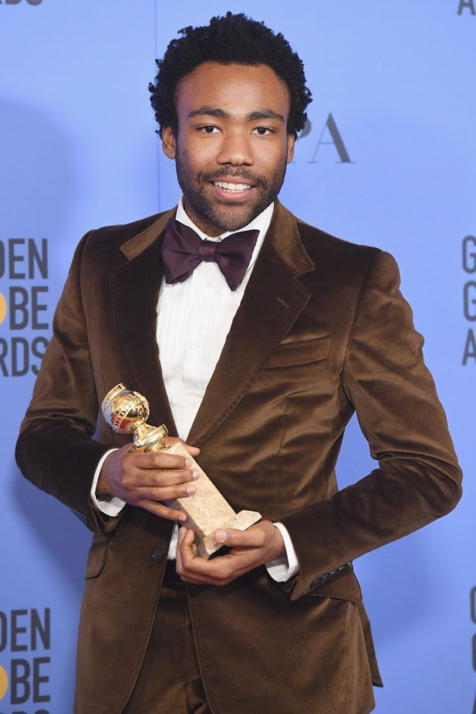 BEVERLY HILLS, CA - JANUARY 08:  Actor Donald Glover, winner of Best Actor in a Television Series - Musical or Comedy for 'Atlanta,' poses in the press room during the 74th Annual Golden Globe Awards at The Beverly Hilton Hotel on January 8, 2017 in Beverly Hills, California.  (Photo by Kevin Winter/Getty Images)