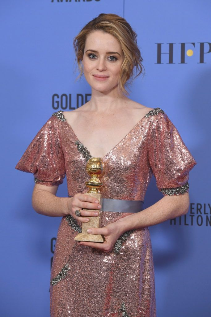 BEVERLY HILLS, CA - JANUARY 08:  Actress Claire Foy, winner of Best Actress in a Television Series - Drama for 'The Crown,' poses in the press room during the 74th Annual Golden Globe Awards at The Beverly Hilton Hotel on January 8, 2017 in Beverly Hills, California.  (Photo by Kevin Winter/Getty Images)
