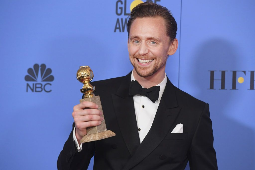 BEVERLY HILLS, CA - JANUARY 08:  Actor Tom Hiddleston, winner of Best Actor in a Miniseries or Television Film for 'The Night Manager,' poses in the press room during the 74th Annual Golden Globe Awards at The Beverly Hilton Hotel on January 8, 2017 in Beverly Hills, California.  (Photo by Kevin Winter/Getty Images)