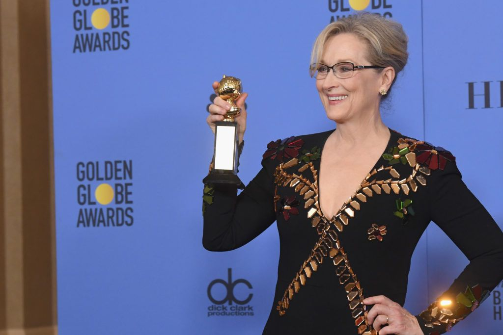 BEVERLY HILLS, CA - JANUARY 08:  Actress Meryl Streep, recipient of the Cecil B. DeMille Award, poses in the press room during the 74th Annual Golden Globe Awards at The Beverly Hilton Hotel on January 8, 2017 in Beverly Hills, California.  (Photo by Kevin Winter/Getty Images)