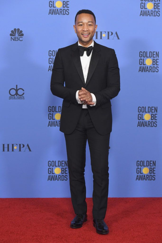 BEVERLY HILLS, CA - JANUARY 08:  Musician John Legend poses in the press room during the 74th Annual Golden Globe Awards at The Beverly Hilton Hotel on January 8, 2017 in Beverly Hills, California.  (Photo by Kevin Winter/Getty Images)