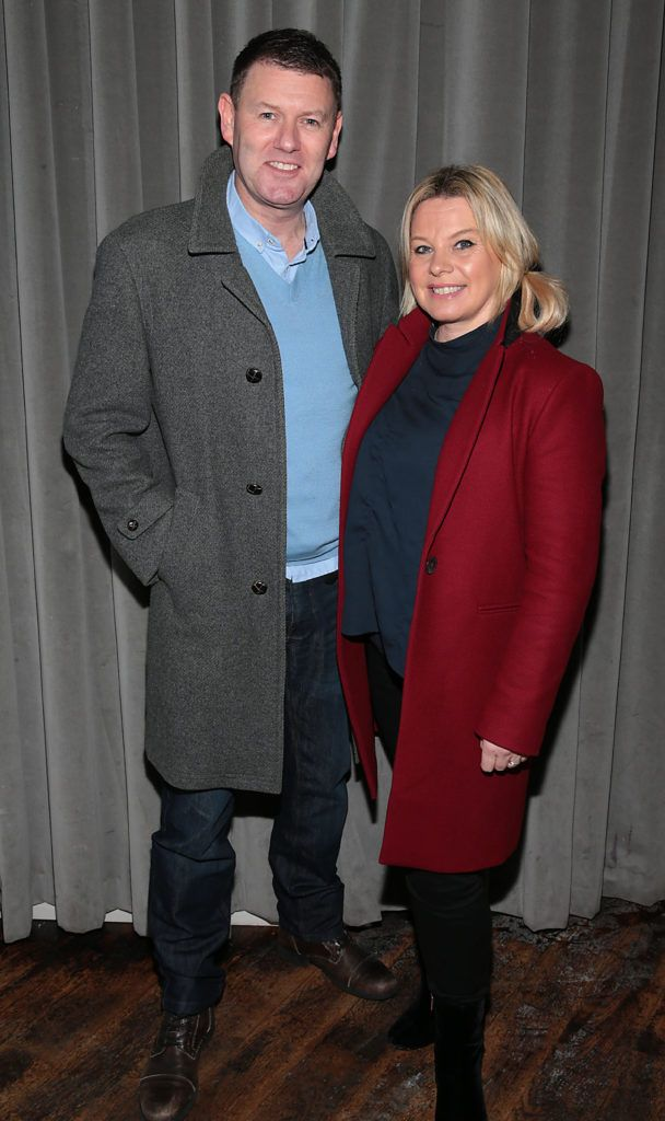 Robbie Kane and Aine Tobin at the launch of Andrea Hayes's book My Life Goals Journal at Farrier and Draper, Dublin. Picture: Brian McEvoy.