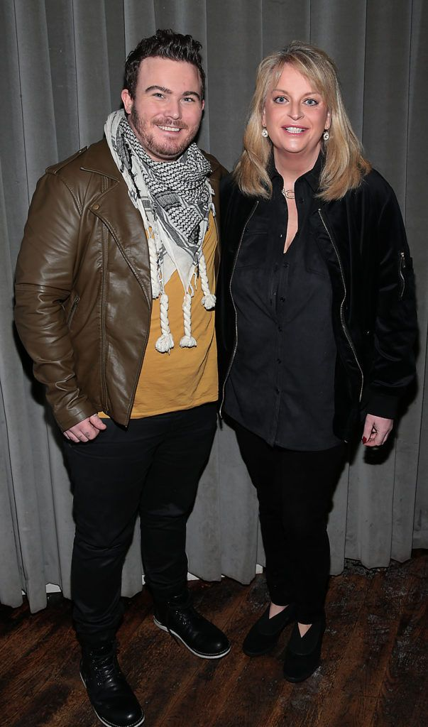 Daniel Murphy and Rosemary Walsh at the launch of Andrea Hayes's book My Life Goals Journal at Farrier and Draper, Dublin. Picture: Brian McEvoy.