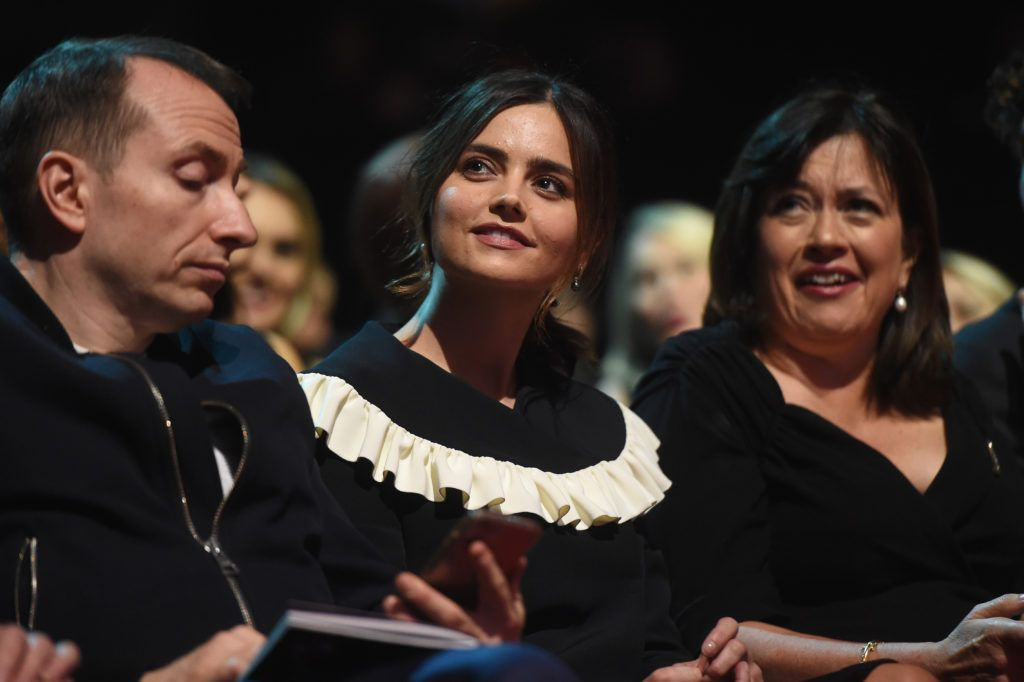 LONDON, ENGLAND - JANUARY 25:  Jenna Coleman during the National Television Awards at The O2 Arena on January 25, 2017 in London, England.  (Photo by Stuart C. Wilson/Getty Images)