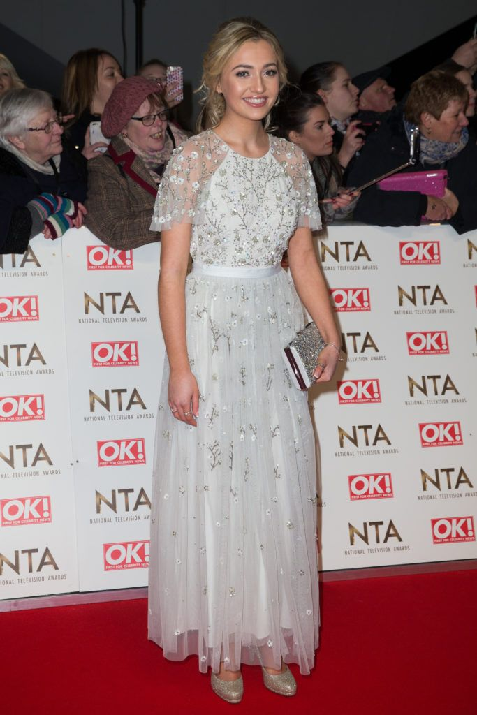 The National Television Awards held at the O2 Arena - Arrivals  Featuring: Tilly Keeper Where: London, United Kingdom When: 25 Jan 2017 Credit: Mario Mitsis/WENN.com