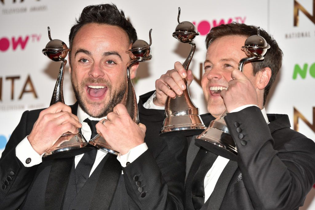 The 2017 National Television Awards held at the O2 - winners' board.  Featuring: Anthony McPartlin, Declan Donnelly Where: London, United Kingdom When: 25 Jan 2017 Credit: Daniel Deme/WENN.com