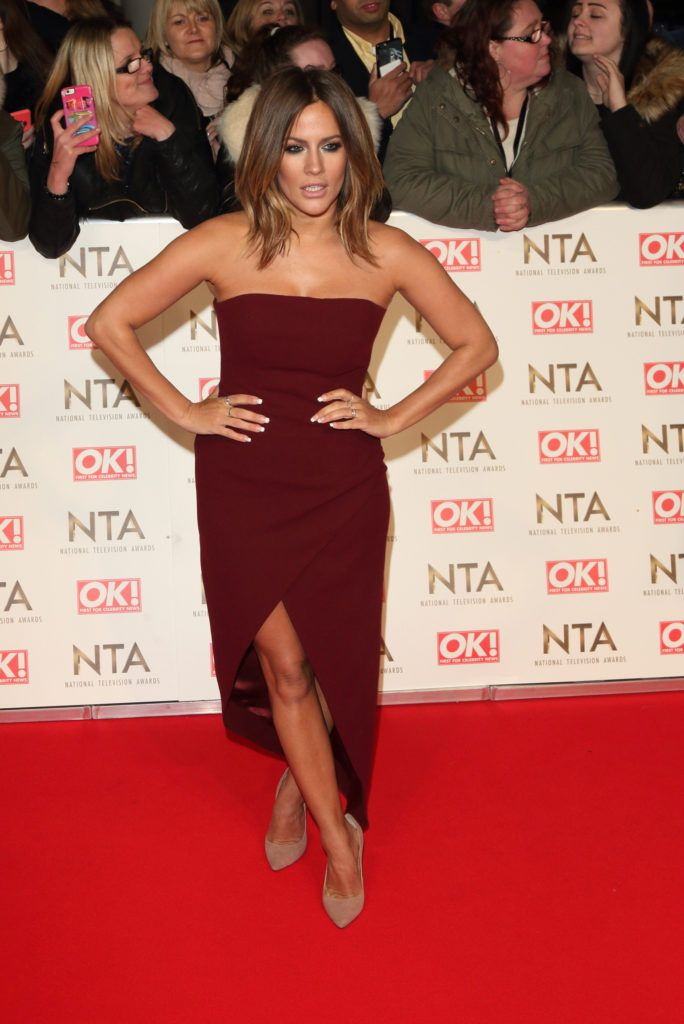 National Television Awards at The O2, Peninsula Square in London - Red carpet arrivals  Featuring: Caroline Flack Where: London, United Kingdom When: 25 Jan 2017 Credit: WENN.com