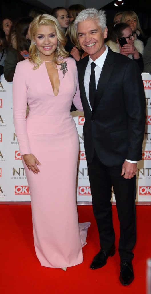 National Television Awards at The O2, Peninsula Square in London - Red carpet arrivals  Featuring: Holly Willoughby, Phillip Schofield Where: London, United Kingdom When: 25 Jan 2017 Credit: WENN.com