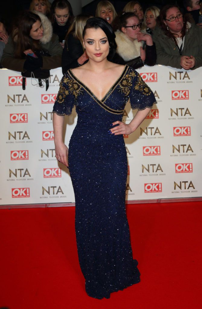 National Television Awards at The O2, Peninsula Square in London - Red carpet arrivals  Featuring: Shona McGarty Where: London, United Kingdom When: 25 Jan 2017 Credit: WENN.com