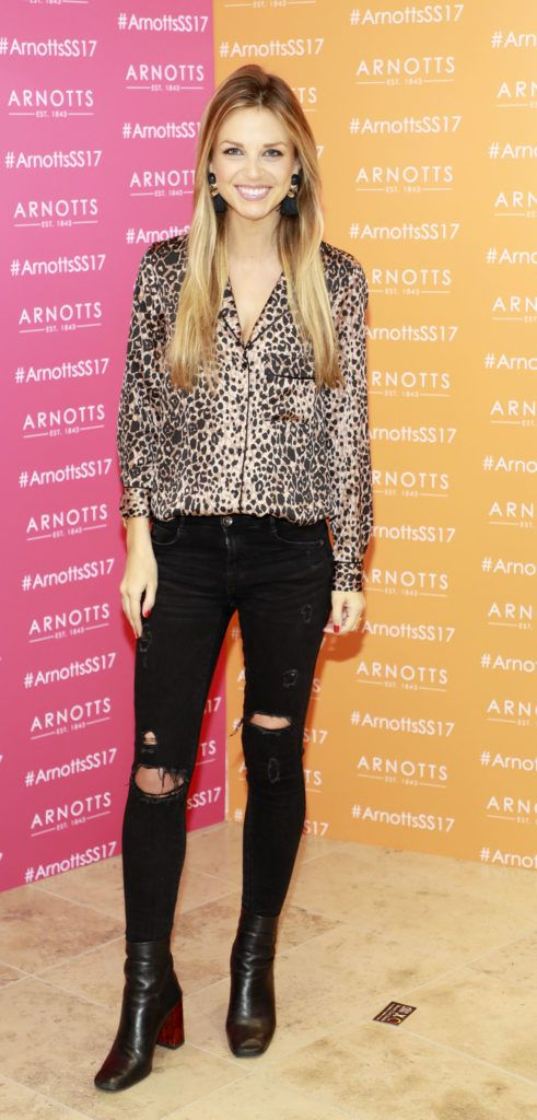 Ruth O'Neill at the launch of Arnotts Spring Summer 2017 womenswear collections in the Accessories Hall at Arnotts -photo Kieran Harnett