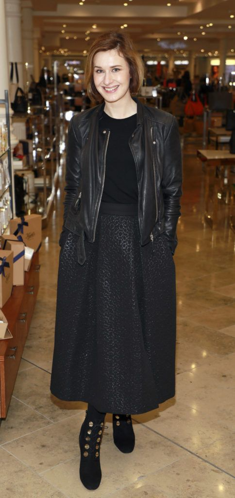 Roxanne Parker at the launch of Arnotts Spring Summer 2017 womenswear collections in the Accessories Hall at Arnotts -photo Kieran Harnett