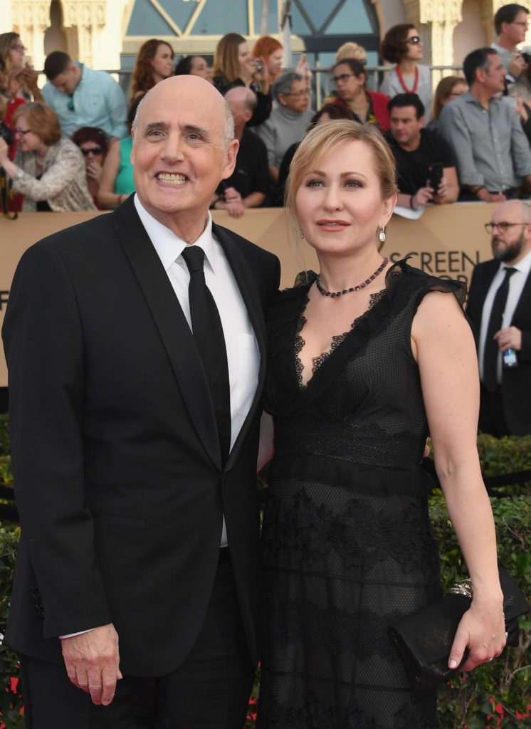 LOS ANGELES, CA - JANUARY 29:  Actor Jeffrey Tambor (L) and Kasia Ostlun attend the 23rd Annual Screen Actors Guild Awards at The Shrine Expo Hall on January 29, 2017 in Los Angeles, California.  (Photo by Alberto E. Rodriguez/Getty Images)