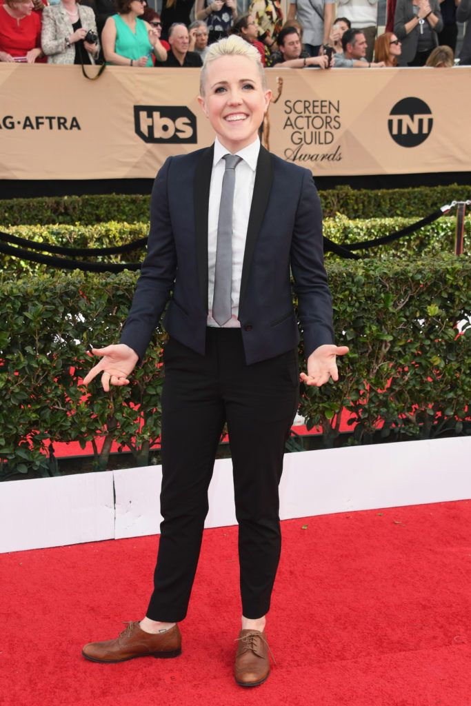 LOS ANGELES, CA - JANUARY 29: Internet personality Hannah Hart attends the 23rd Annual Screen Actors Guild Awards at The Shrine Expo Hall on January 29, 2017 in Los Angeles, California.  (Photo by Alberto E. Rodriguez/Getty Images)