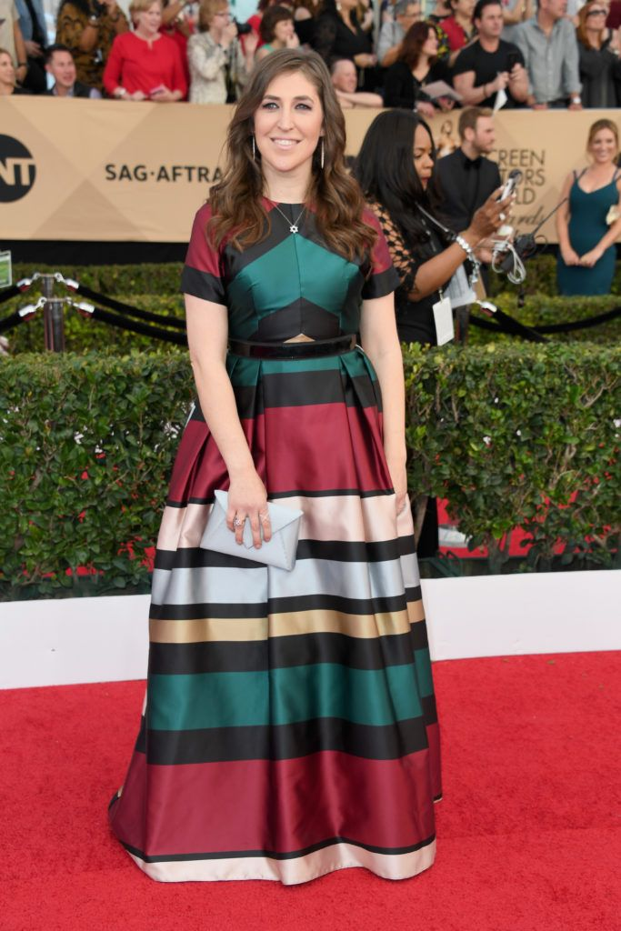 LOS ANGELES, CA - JANUARY 29:  Actress Mayim Bialik attends the 23rd Annual Screen Actors Guild Awards at The Shrine Expo Hall on January 29, 2017 in Los Angeles, California.  (Photo by Alberto E. Rodriguez/Getty Images)