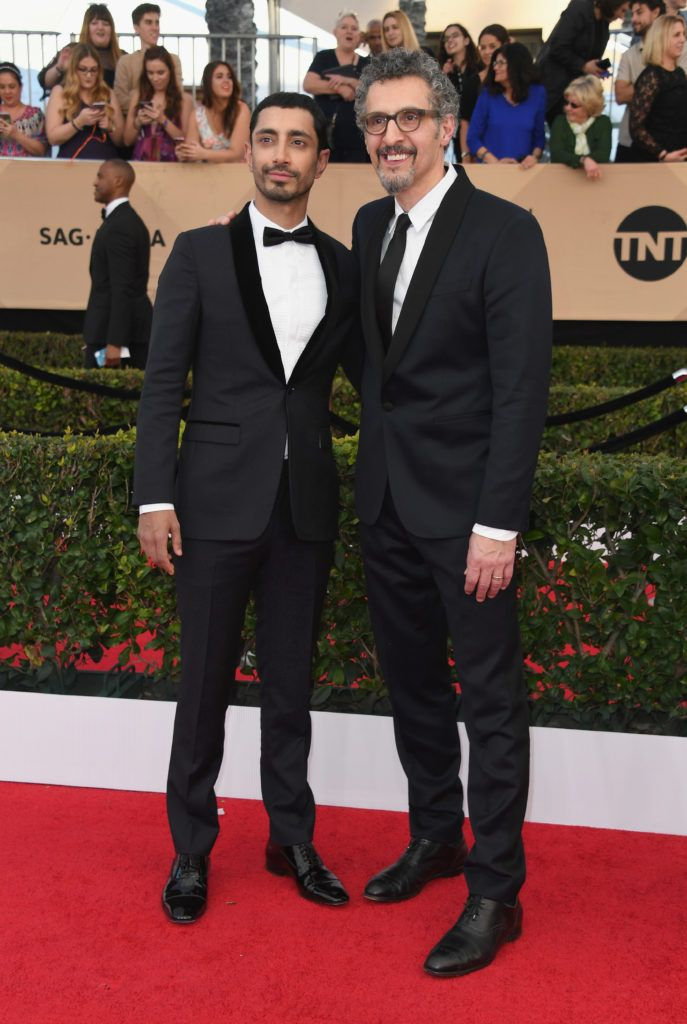 LOS ANGELES, CA - JANUARY 29:  Actors Riz Ahmed and John Turturro attend the 23rd Annual Screen Actors Guild Awards at The Shrine Expo Hall on January 29, 2017 in Los Angeles, California.  (Photo by Alberto E. Rodriguez/Getty Images)