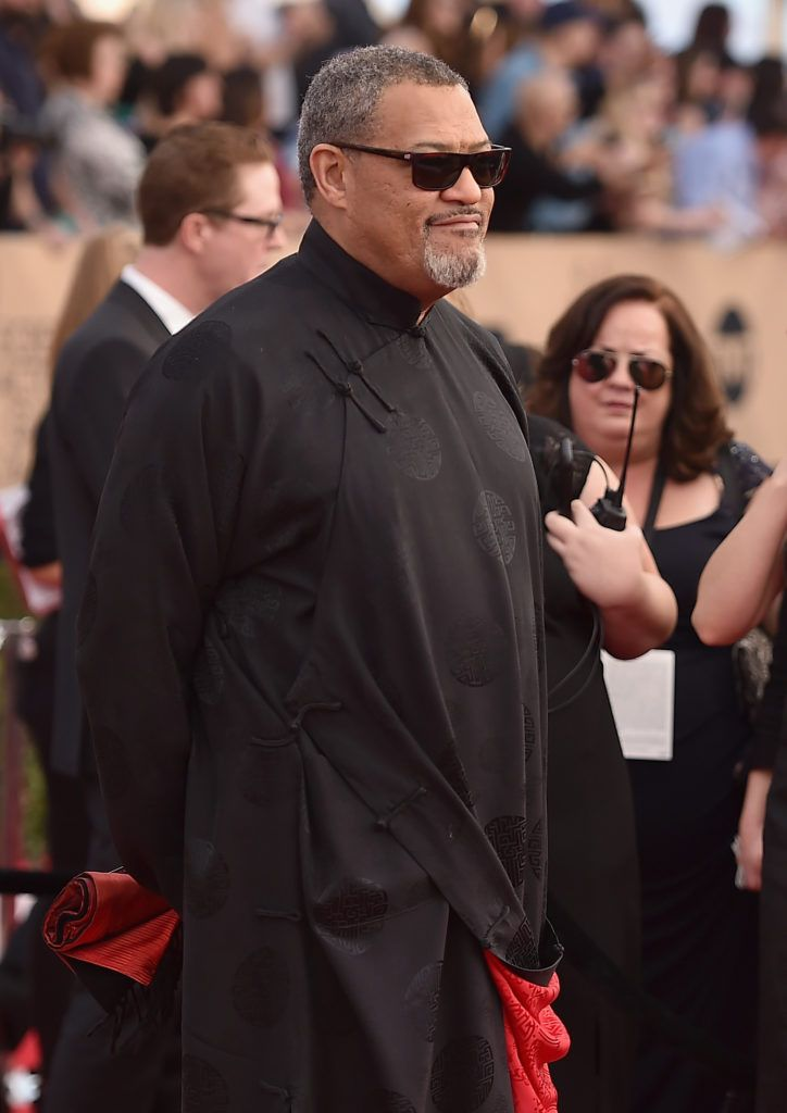 LOS ANGELES, CA - JANUARY 29:  Actor Laurence Fishburne attends the 23rd Annual Screen Actors Guild Awards at The Shrine Expo Hall on January 29, 2017 in Los Angeles, California.  (Photo by Alberto E. Rodriguez/Getty Images)