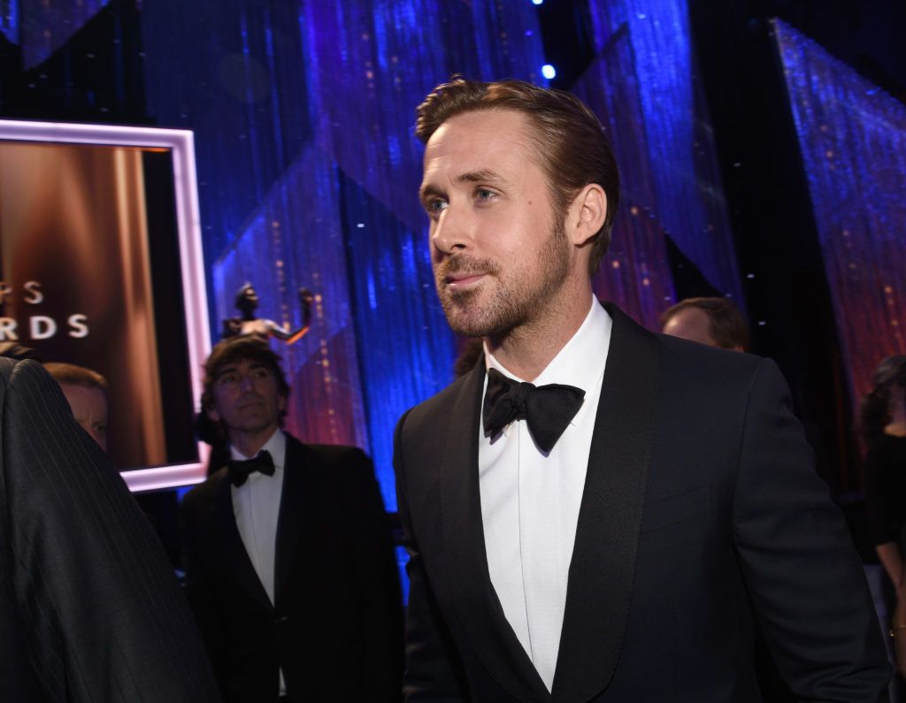 LOS ANGELES, CA - JANUARY 29:  Actor Ryan Gosling attends the 23rd Annual Screen Actors Guild Awards Cocktail Reception at The Shrine Expo Hall on January 29, 2017 in Los Angeles, California.  (Photo by Kevork Djansezian/Getty Images)