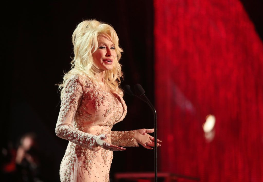 LOS ANGELES, CA - JANUARY 29: Actor Dolly Parton during The 23rd Annual Screen Actors Guild Awards at The Shrine Auditorium on January 29, 2017 in Los Angeles, California. 26592_012  (Photo by Christopher Polk/Getty Images for TNT)