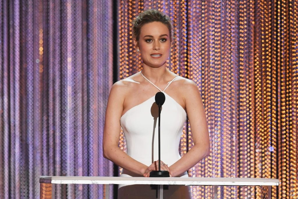 LOS ANGELES, CA - JANUARY 29:  Actor Brie Larson speaks onstage during The 23rd Annual Screen Actors Guild Awards at The Shrine Auditorium on January 29, 2017 in Los Angeles, California. 26592_014  (Photo by Kevin Winter/Getty Images )