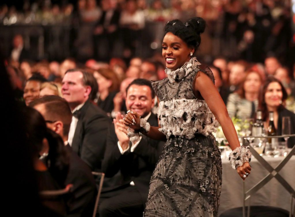LOS ANGELES, CA - JANUARY 29: Actor Janelle Monae during The 23rd Annual Screen Actors Guild Awards at The Shrine Auditorium on January 29, 2017 in Los Angeles, California. 26592_012  (Photo by Christopher Polk/Getty Images for TNT)