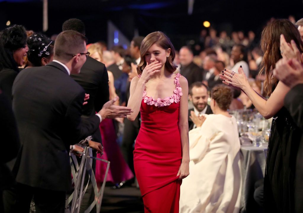LOS ANGELES, CA - JANUARY 29: Actor Natalia Dyer during The 23rd Annual Screen Actors Guild Awards at The Shrine Auditorium on January 29, 2017 in Los Angeles, California. 26592_012  (Photo by Christopher Polk/Getty Images for TNT)