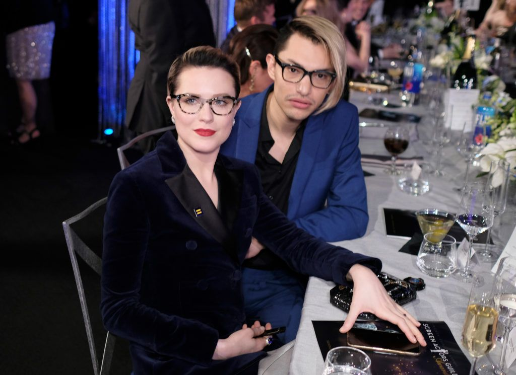 LOS ANGELES, CA - JANUARY 29:  Actors Evan Rachel Wood (L) and Zach Villa attend The 23rd Annual Screen Actors Guild Awards at The Shrine Auditorium on January 29, 2017 in Los Angeles, California. 26592_009  (Photo by Dimitrios Kambouris/Getty Images for TNT)