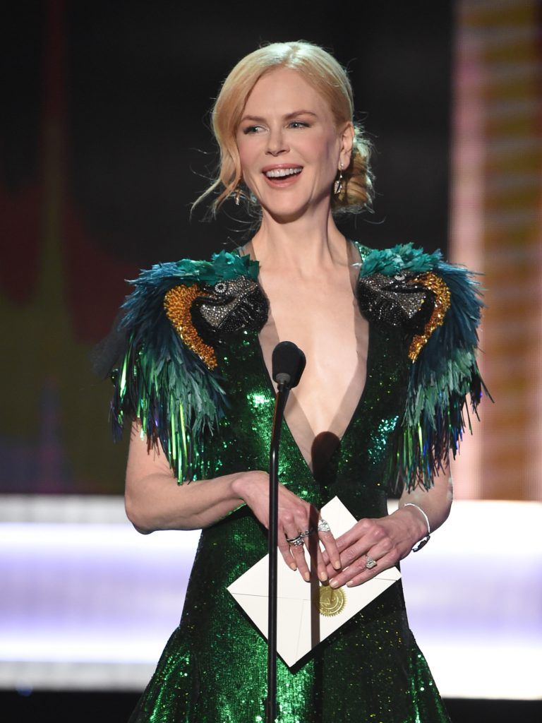 Actress Nicole Kidman speaks onstage during the 23rd Annual Screen Actors Guild Awards show at The Shrine Auditorium on January 29, 2017 in Los Angeles, California. (Photo ROBYN BECK/AFP/Getty Images)