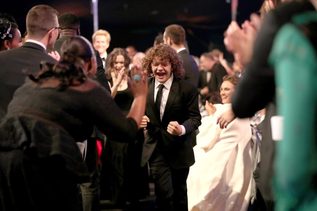 LOS ANGELES, CA - JANUARY 29: Actor Gaten Matarazzo during The 23rd Annual Screen Actors Guild Awards at The Shrine Auditorium on January 29, 2017 in Los Angeles, California. 26592_012  (Photo by Christopher Polk/Getty Images for TNT)