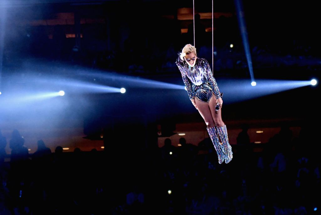 Lady Gaga performs onstage during the Pepsi Zero Sugar Super Bowl LI Halftime Show at NRG Stadium on February 5, 2017 in Houston, Texas.  (Photo by Larry Busacca/Getty Images)