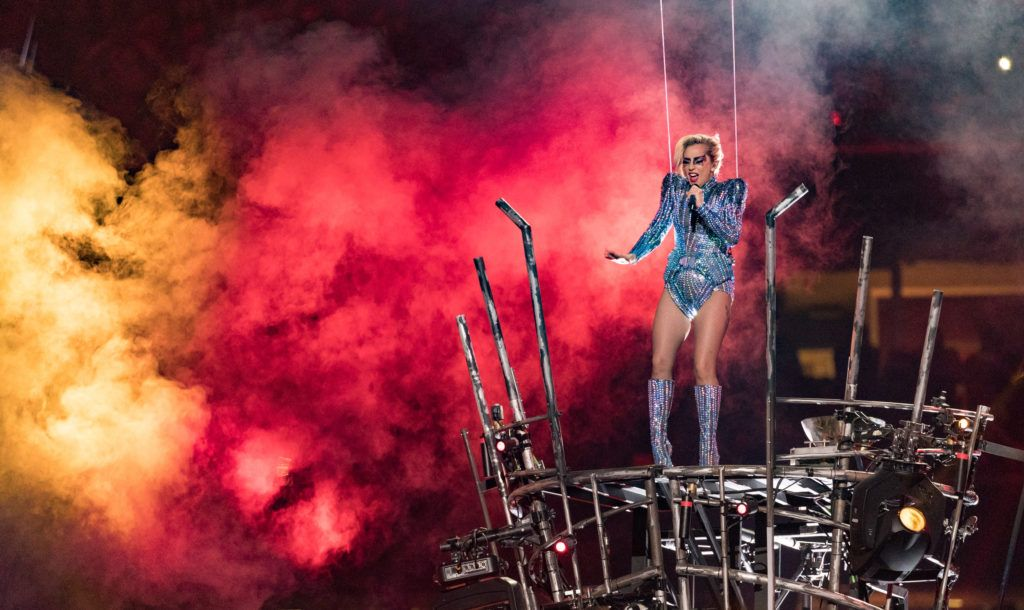 Lady Gaga performs onstage during the Pepsi Zero Sugar Super Bowl LI Halftime Show at NRG Stadium on February 5, 2017 in Houston, Texas.  (Photo by Christopher Polk/Getty Images)