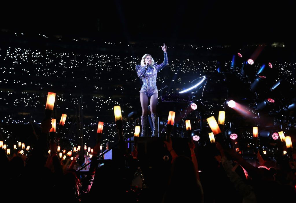 Lady Gaga performs during the Pepsi Zero Sugar Super Bowl 51 Halftime Show at NRG Stadium on February 5, 2017 in Houston, Texas.  (Photo by Al Bello/Getty Images)