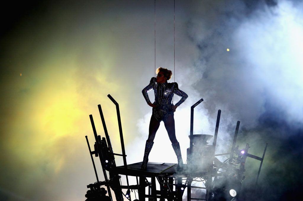 Lady Gaga performs during the Pepsi Zero Sugar Super Bowl 51 Halftime Show at NRG Stadium on February 5, 2017 in Houston, Texas.  (Photo by Ezra Shaw/Getty Images)