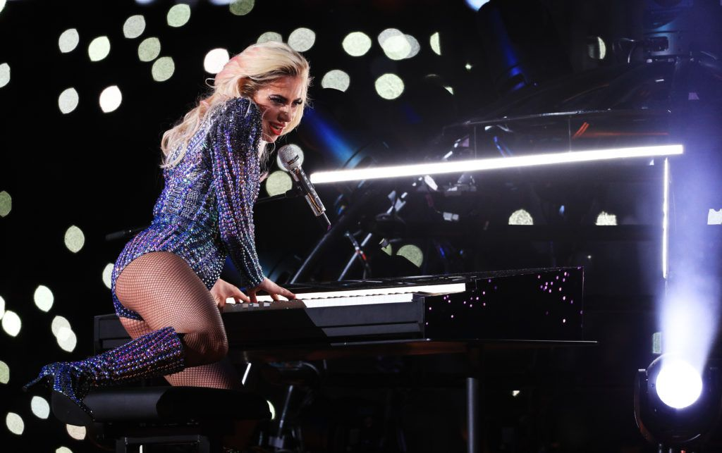 Lady Gaga performs during the Pepsi Zero Sugar Super Bowl 51 Halftime Show at NRG Stadium on February 5, 2017 in Houston, Texas.  (Photo by Mike Ehrmann/Getty Images)