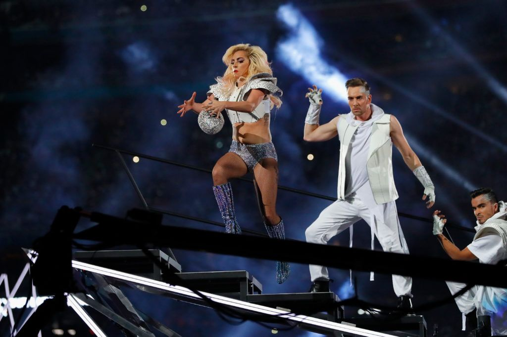Lady Gaga performs during the Pepsi Zero Sugar Super Bowl 51 Halftime Show at NRG Stadium on February 5, 2017 in Houston, Texas.  (Photo by Kevin C. Cox/Getty Images)