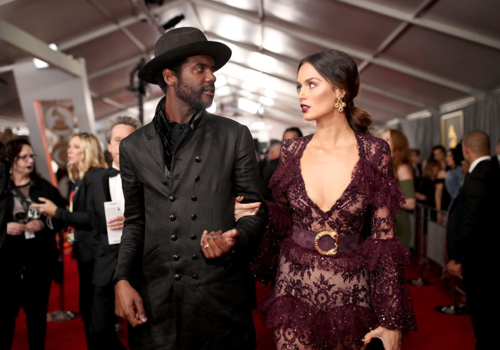 LOS ANGELES, CA - FEBRUARY 12:  Recording artist Gary Clark Jr. (L) and Nicole Trunfio attends The 59th GRAMMY Awards at STAPLES Center on February 12, 2017 in Los Angeles, California.  (Photo by Christopher Polk/Getty Images for NARAS)