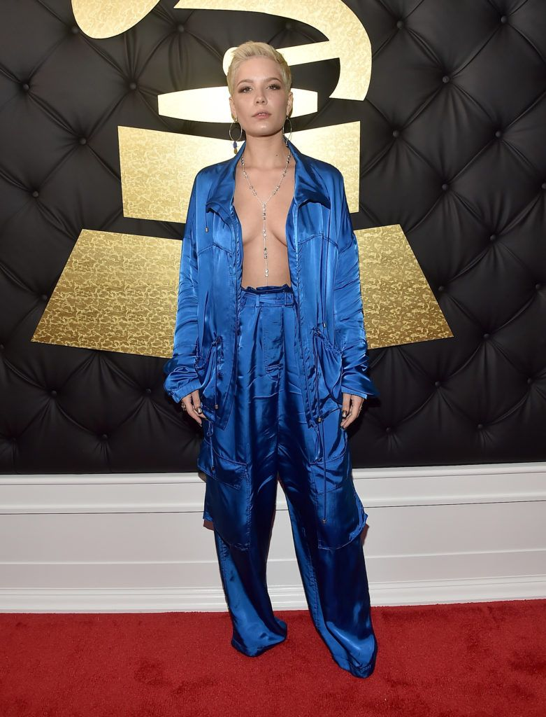 LOS ANGELES, CA - FEBRUARY 12:  Singer Halsey attends The 59th GRAMMY Awards at STAPLES Center on February 12, 2017 in Los Angeles, California.  (Photo by Alberto E. Rodriguez/Getty Images for NARAS)