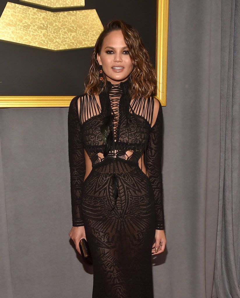 LOS ANGELES, CA - FEBRUARY 12:  Model/Media Personality Chrissy Teigen attends The 59th GRAMMY Awards at STAPLES Center on February 12, 2017 in Los Angeles, California.  (Photo by Alberto E. Rodriguez/Getty Images for NARAS)