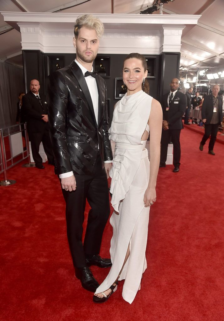 LOS ANGELES, CA - FEBRUARY 12:  Musicians Tucker Halpern and Sophie Hawley-Weld of Sofi Tukker  attend The 59th GRAMMY Awards at STAPLES Center on February 12, 2017 in Los Angeles, California.  (Photo by Alberto E. Rodriguez/Getty Images for NARAS)