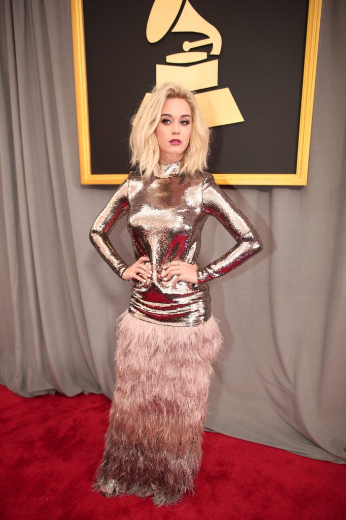 LOS ANGELES, CA - FEBRUARY 12:  Singer Katy Perry attends The 59th GRAMMY Awards at STAPLES Center on February 12, 2017 in Los Angeles, California.  (Photo by Christopher Polk/Getty Images for NARAS)