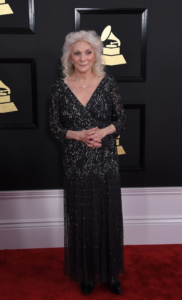 Judy Collins arrives for the 59th Grammy Awards pre-telecast on February 12, 2017, in Los Angeles, California.  (Photo MARK RALSTON/AFP/Getty Images)