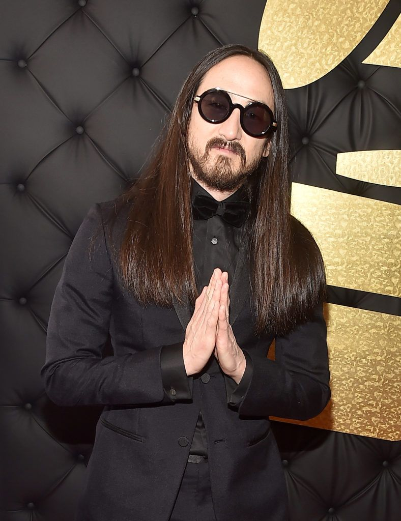 LOS ANGELES, CA - FEBRUARY 12: DJ Steve Aoki attends The 59th GRAMMY Awards at STAPLES Center on February 12, 2017 in Los Angeles, California.  (Photo by Alberto E. Rodriguez/Getty Images for NARAS)
