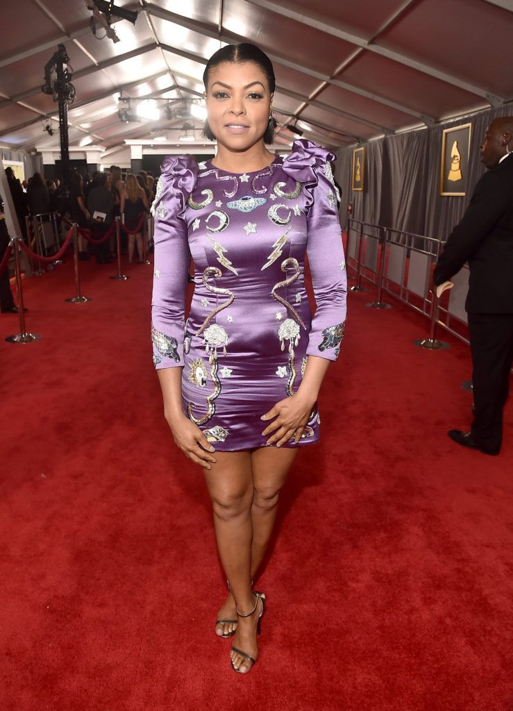 LOS ANGELES, CA - FEBRUARY 12:  Actress Taraji P. Henson attends The 59th GRAMMY Awards at STAPLES Center on February 12, 2017 in Los Angeles, California.  (Photo by Alberto E. Rodriguez/Getty Images for NARAS)